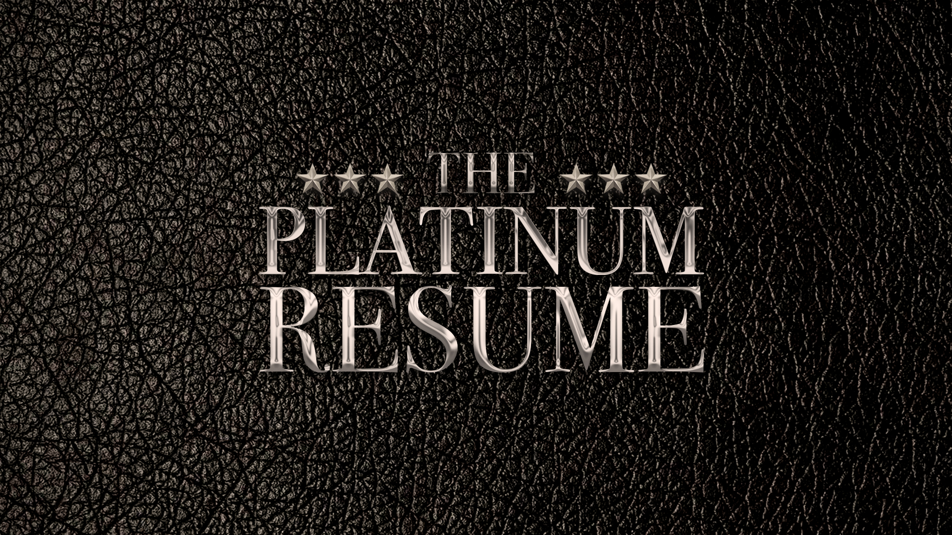 The Platinum Resume